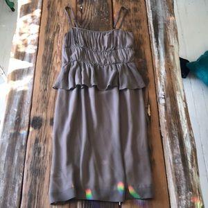 Anthropologie Peplum Dress with Straps